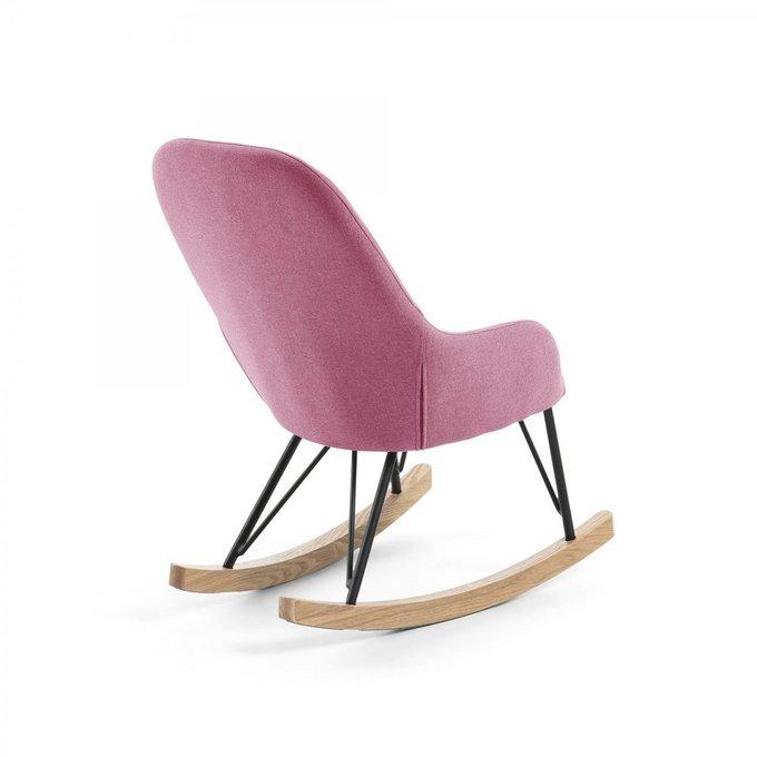 Детское кресло-качалка Ivette розового цвета