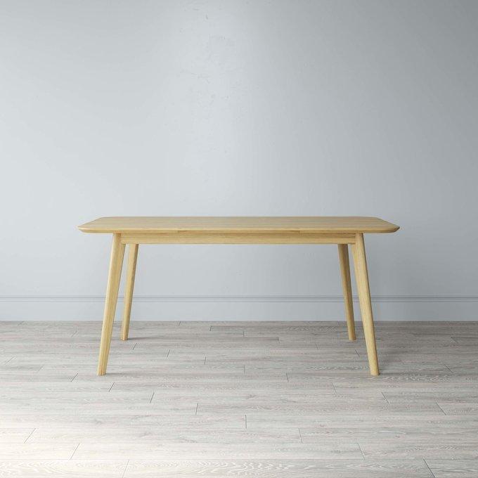 Стол обеденный Elia с подстольем из массива цвета натурального дуба 120х75