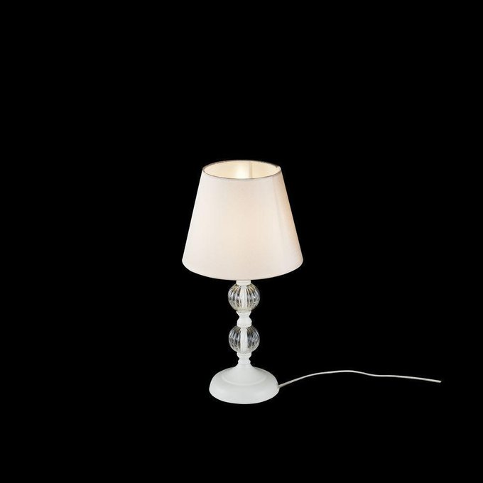 Настольная лампа Lucretia из металла и тканеи