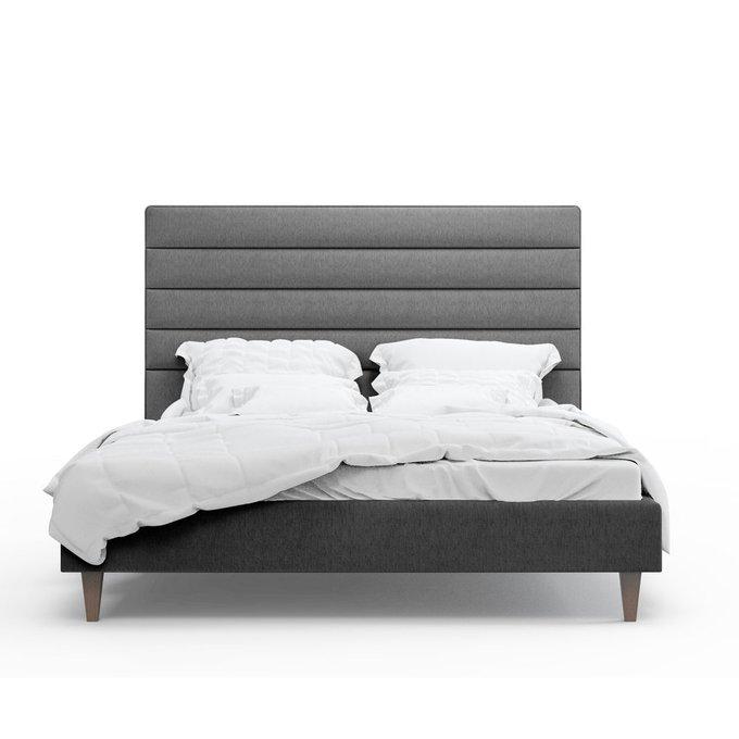 Кровать Джейси темно-серого цвета 200х200
