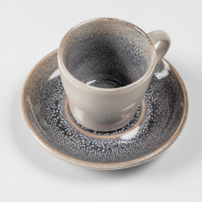 Кофейная чашка с блюдцем Light blue Sachi из керамики