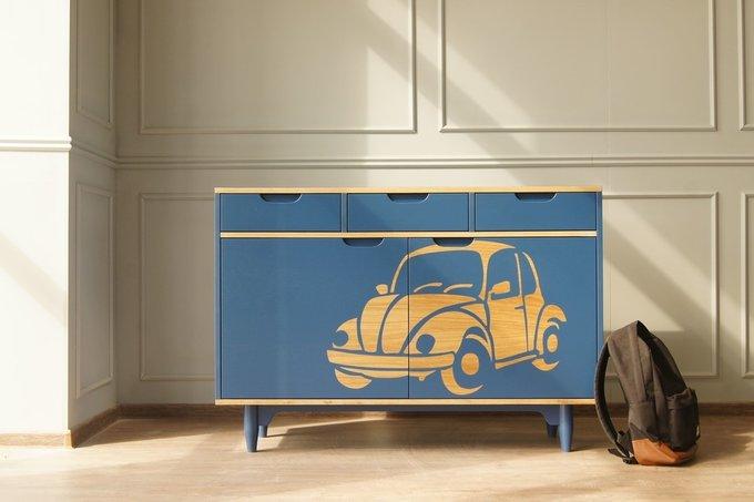 Комод с машиной Travel синего цвета