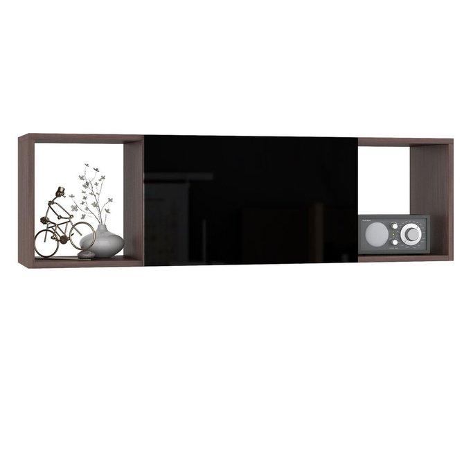 Полка Брайтон цвета ясень шимо с откидной дверцой