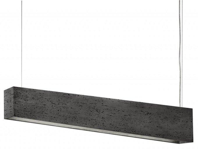 Подвесной светильник Stone Travertine серого цвета
