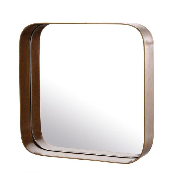 Набор из трех зеркал Edge squares с квадратной металлической рамой