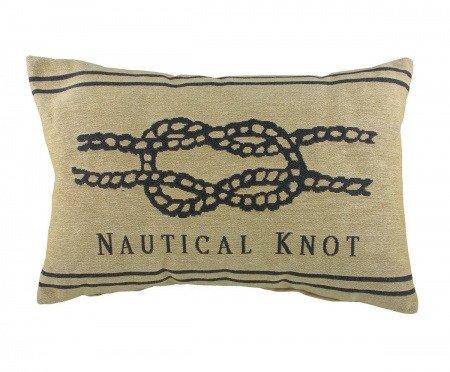 Подушка с надписью Nautical Knot Natural