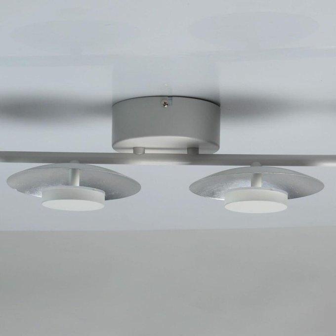Настенно-потолочный светодиодный светильник Галатея 14 из металла серого цвета