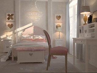 Кровать в стиле Прованс Adelina 160Х200