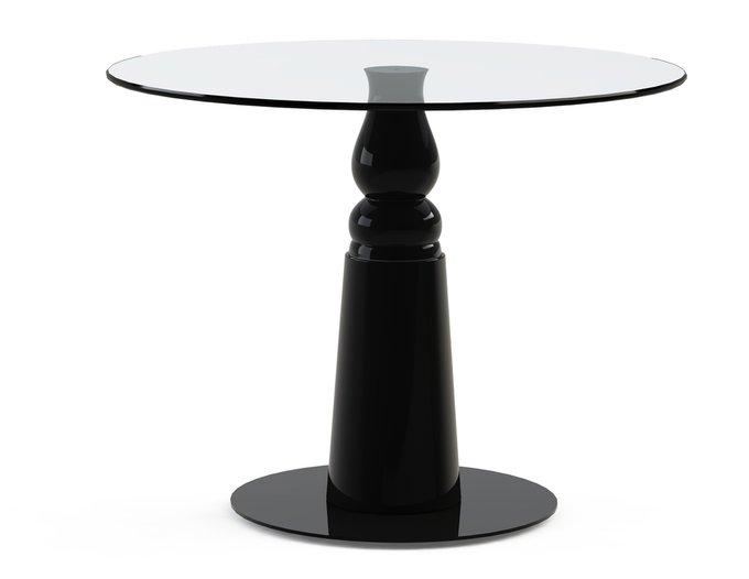 """Стол обеденный """"IGNIS Black"""" со столешницей из стекла"""