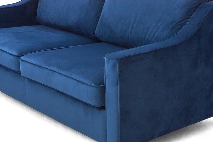 Прямой диван Грегори синего цвета