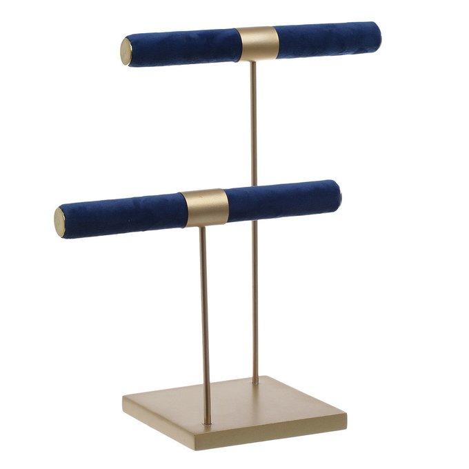 Подставка для украшений сине-золотого цвета