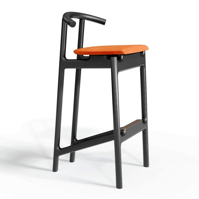 Барный стул Hans black/velvet persimmon