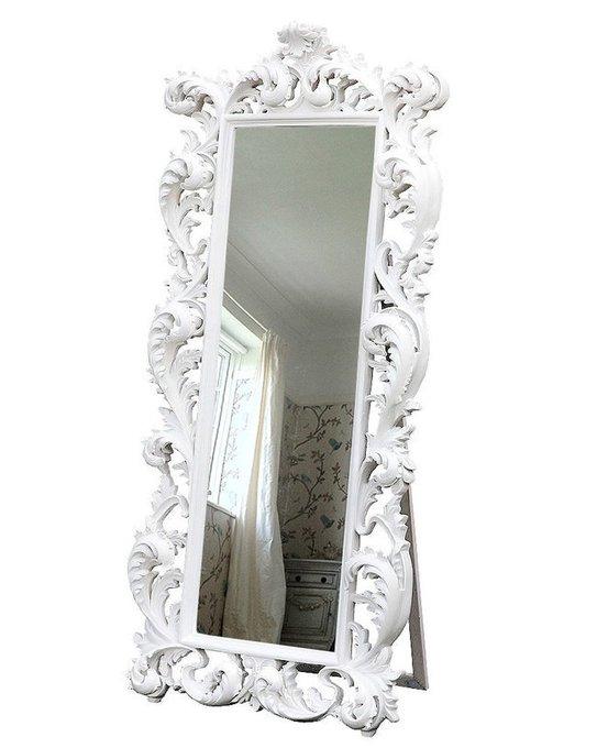 """Напольное зеркало """"Меривейл белый"""""""