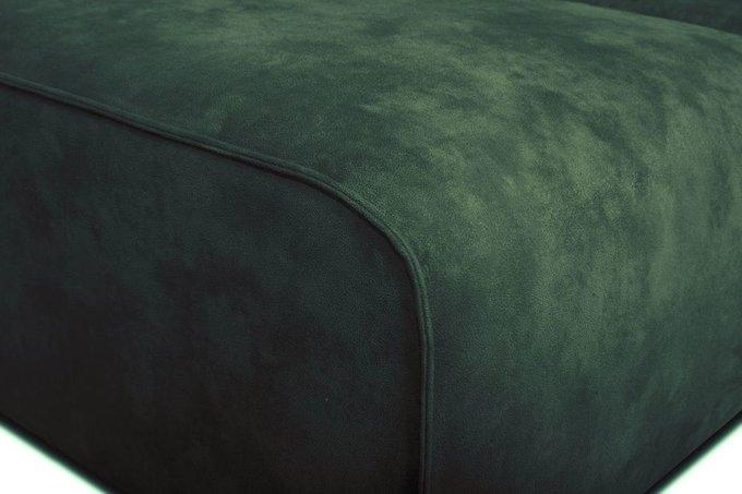 Диван угловой Industrial Loft зеленого цвета