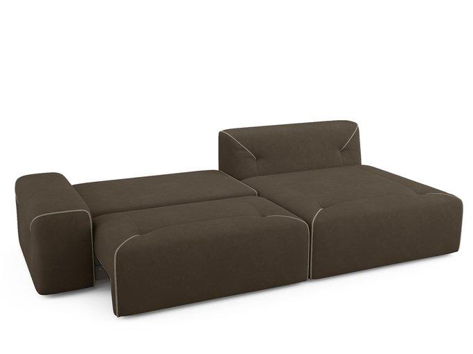 Угловой диван-кровать Portu темно-коричневого цвета