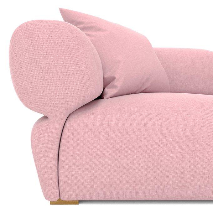 Диван трехместный Fly с пуфом светло-розового цвета