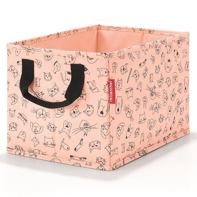 Коробка для хранения детская Storagebox cats and dogs rose розового цвета
