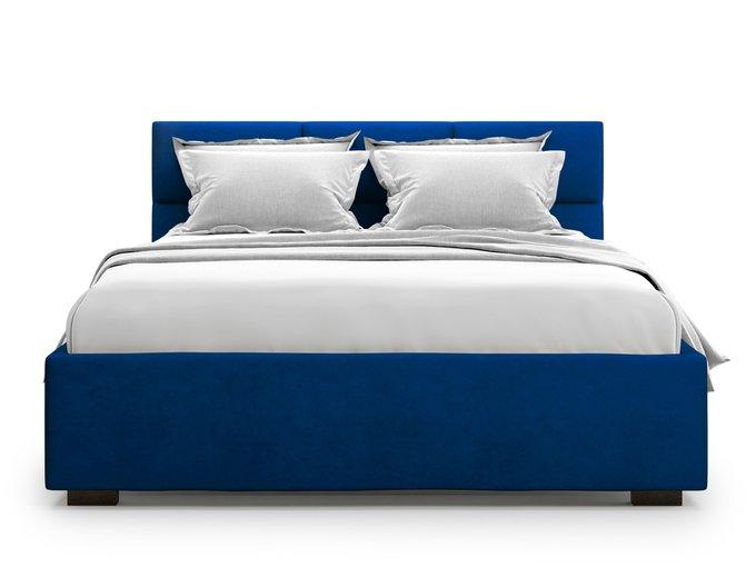 Кровать Bolsena без подъемного механизма 180х200 синего цвета
