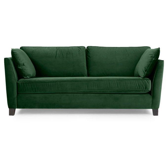Трехместный раскладной диван Wolsly зеленый