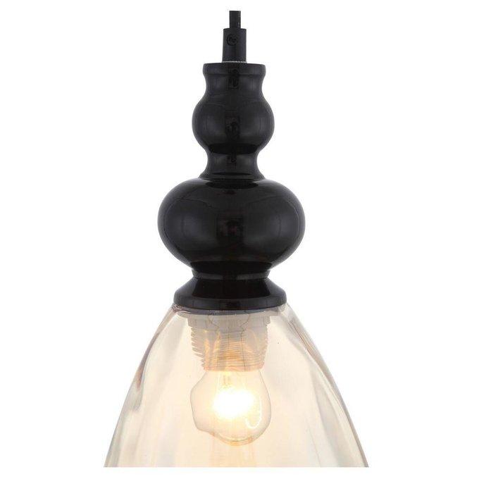 Подвесной светильник Bacineto с плафоном янтарного цвета