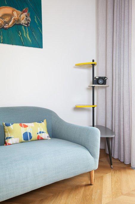 Декоративная подушка Geometry синего цвета