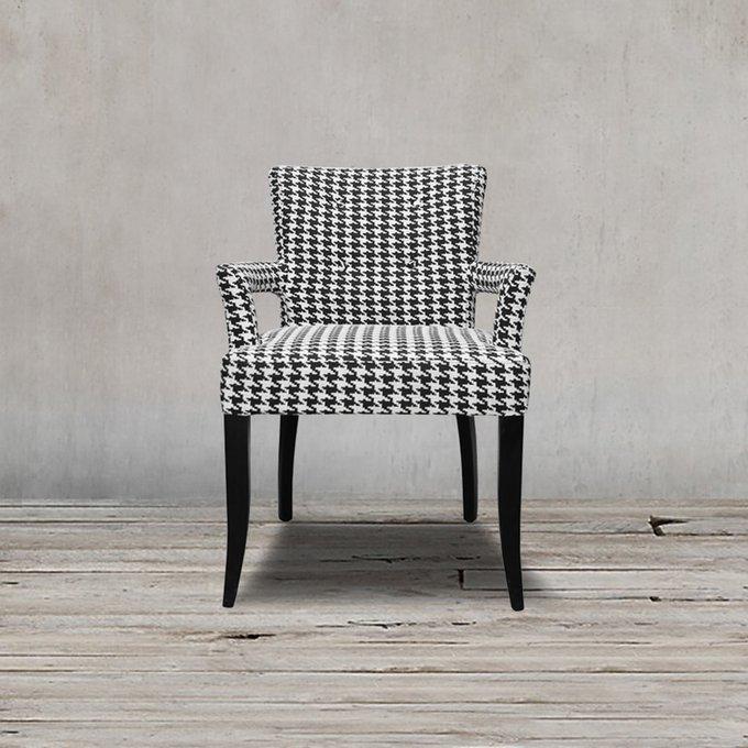 Стул Миледи с черно-белым принтом