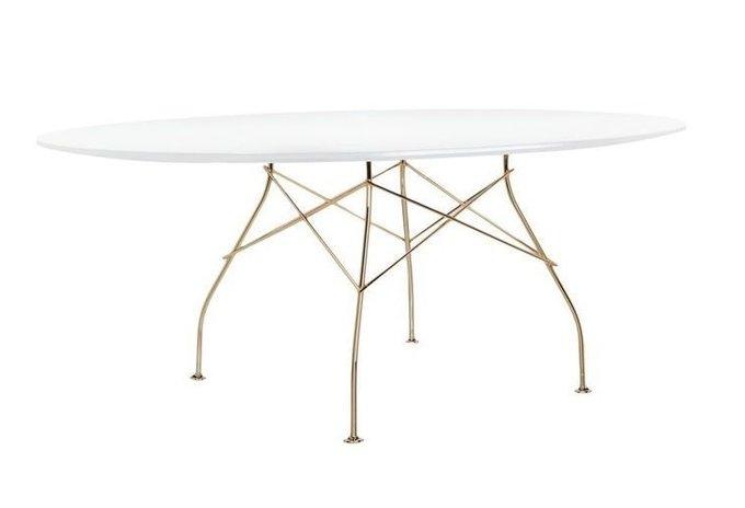 Обеденный стол Glossy с мраморной столешницей