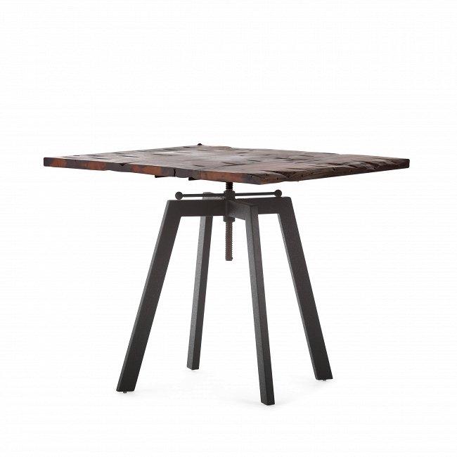 Обеденный стол Tough с регулируемой по высоте столешницей из массива с искусственным старением