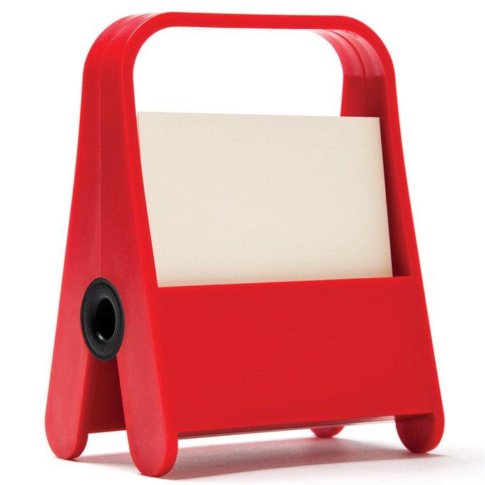 Держатель для записок с блоком a clip красный