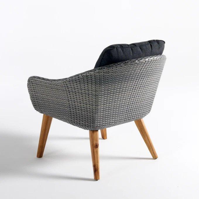 Кресло Grigio серого цвета