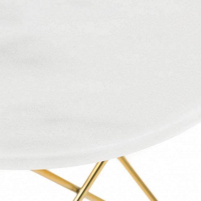 Журнальный стол из мрамора и стали