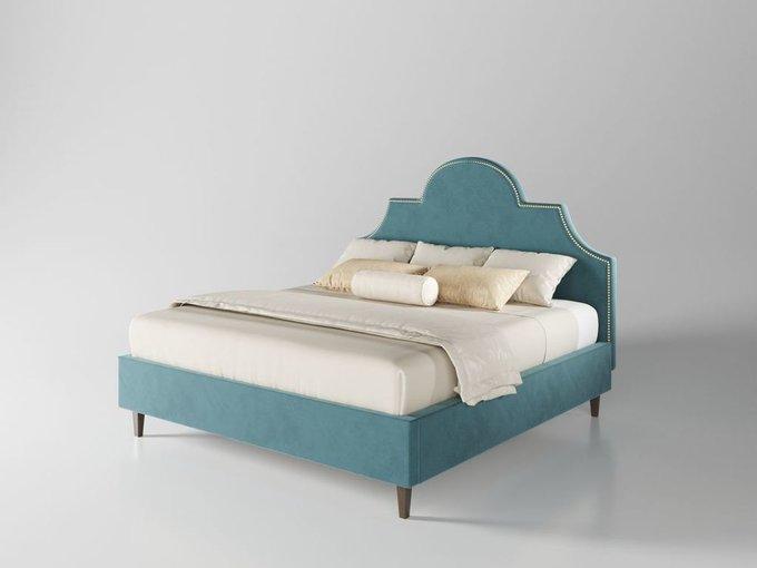 Кровать Бриэль 160х200 цвет морской волны  с подъемным механизмом