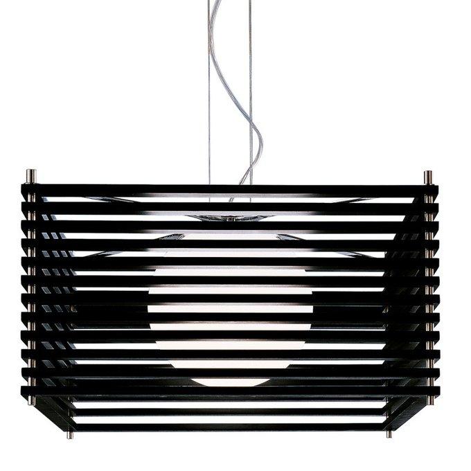 Подвесной светильник Axo Light Koshi с абажуром из бамбука на хромированной арматуре