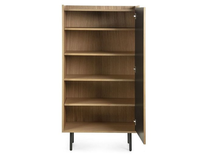 Книжный шкаф Lish черного цвета