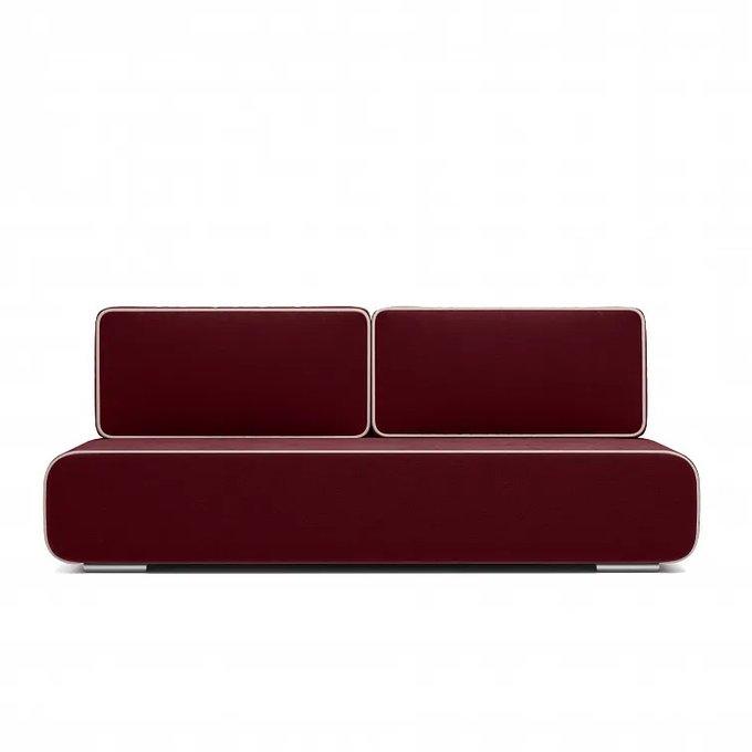 Диван-кровать Рокки бордового цвета