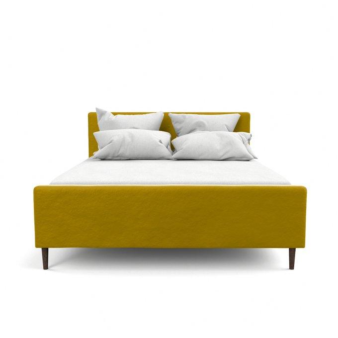 Двухспальная кровать Кристина желтого цвета 200х200