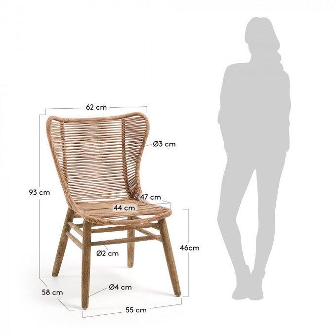 Кресло Kubic бежевого цвета