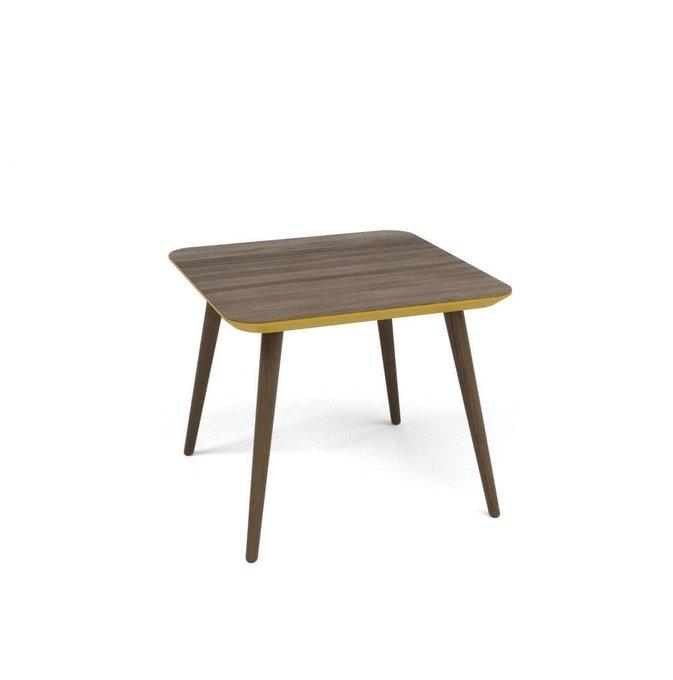 Журнальный стол Scale Quadro орех+эмаль