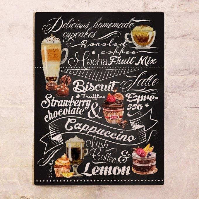 Металлический плакат Сладости