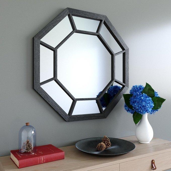 Настенное зеркало lulustore Glam в деревянной раме