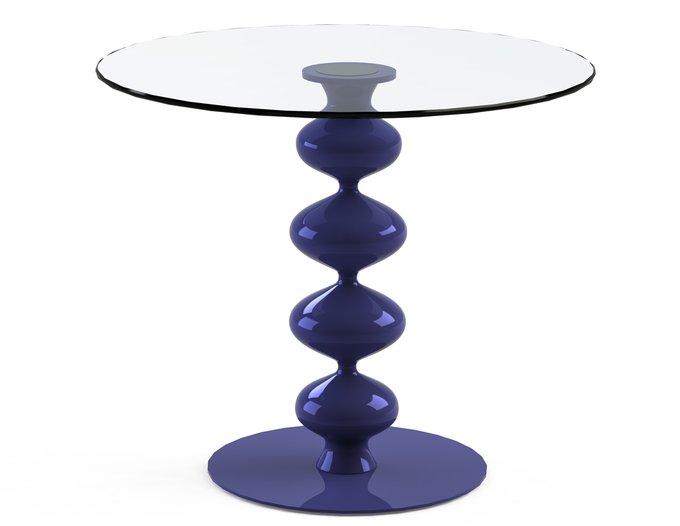 """Стол обеденный """"CRIADOR Blue"""" со столешницей из закаленного стекла"""