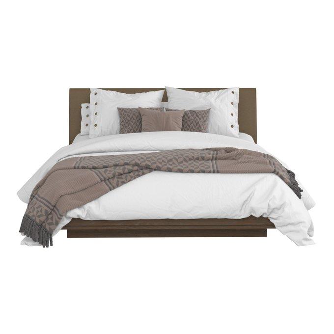 Кровать Сиена 160х200 коричневого цвета и подъемным механизмом