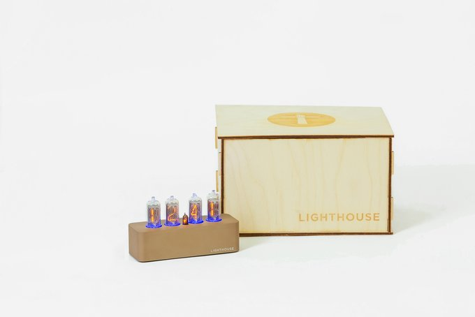 Часы на газоразрядных индикаторах Lighthouse 1.0 Brown