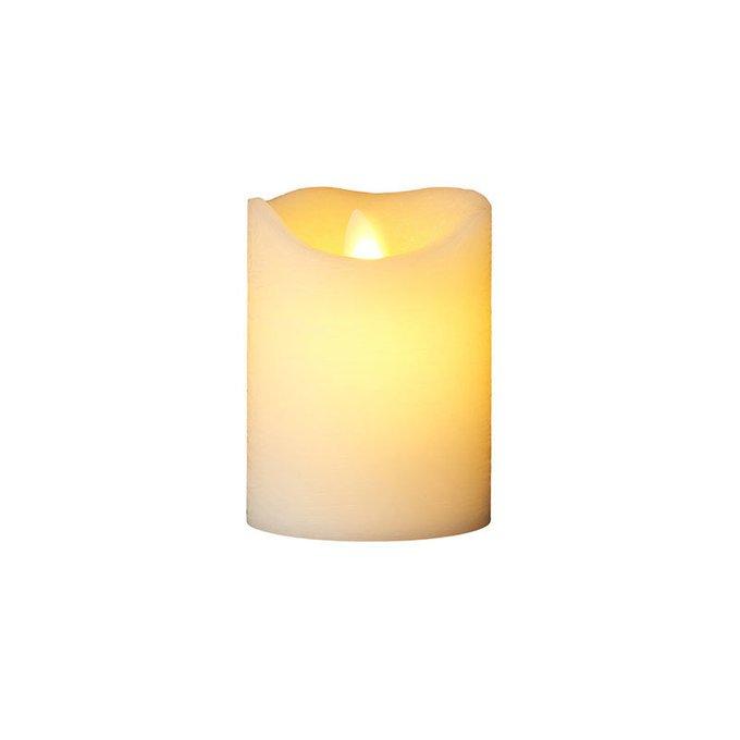 Светодиодная свеча с имитацией живого огня Sara Exclusive белого цвета