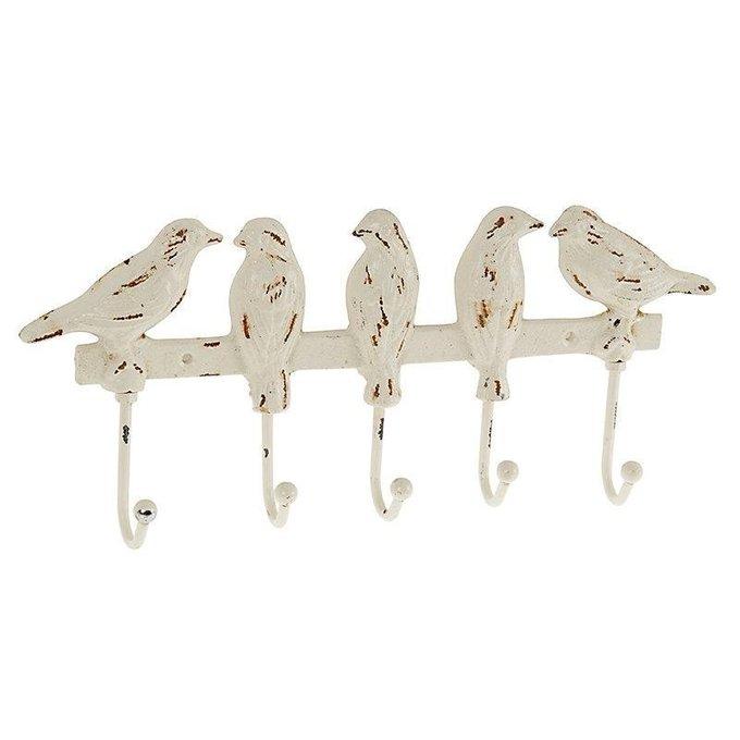Вешалка настенная с птичками