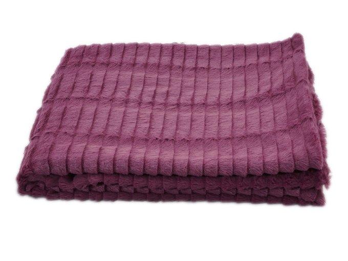 Плед Fluff фиолетового цвета 130х170