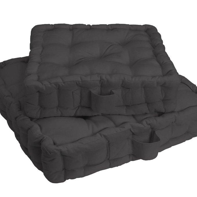 Напольная подушка Scenario темно-серого цвета 50x50x10