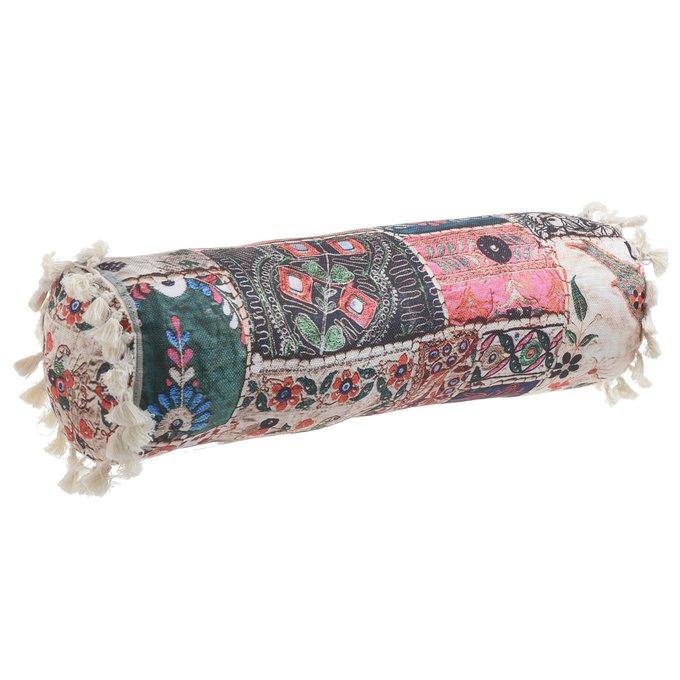 Декоративная подушка цилиндрической формы