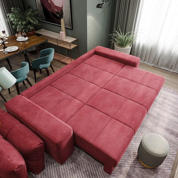 Диван-кровать Матиас темно-синего цвета