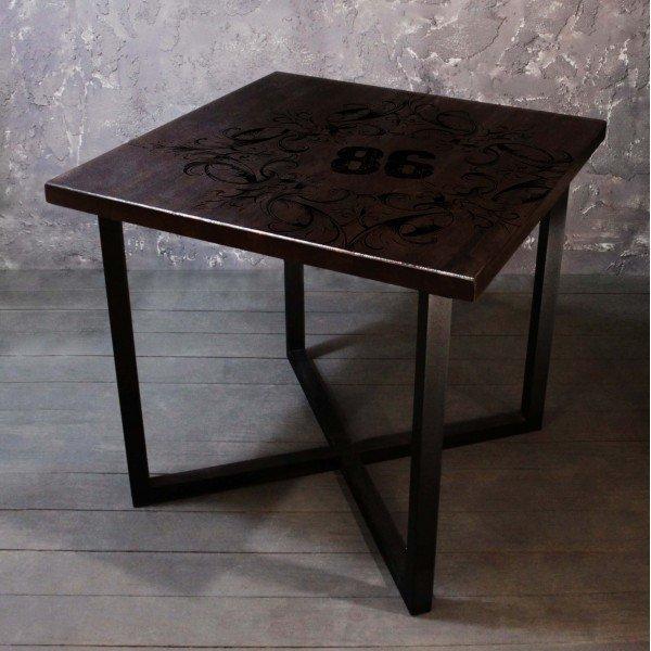 Обеденный стол Industrial chicиз массива сосны и металла
